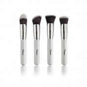 AMarkUp 4 Pcs Professional Foundation Kabuki Makeup Brushes Set Cosmetic Make Pp Tools Brushes Kits White