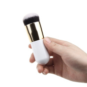 Afoxsos Women's Chubby Pier Portable Round Foundation Brush