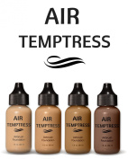 Air Temptress Pro Foundation Starter Set (Pack of 4),1 fl.oz/30ml. High Quality Liquid Airbrush Foundation Makeup Developed to Work With Your Airbrush Makeup System. Made in The USA.
