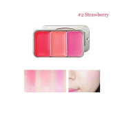 [SKINFOOD] Fresh Fruit Lip & Cheek Trio 2.5g*3