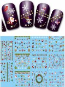 Relipop 11pcs Christmas Presents Santa Trees Design Nail Art Stickers Decals