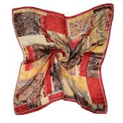 ETSYG® 80cm Women's Silk Scarf Large Square Fashion Elegant Pattern Neck Shawl
