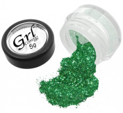 Grl Cosmetics Cosmetic Glitter Makeup for Face, Eyes, Lips, Nails and Body - GL45 Green Tea, 5 Gramme Jar