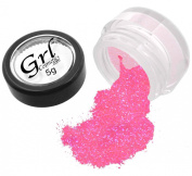Grl Cosmetics Cosmetic Glitter Makeup for Face, Eyes, Lips, Nails and Body - GL12 Screaming Pink, 5 Gramme Jar