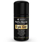 Radha Eye Cream for Dark Circles, Puffiness, Bags & Wrinkles - The most effective eye gel for every eye concern - All Natural - .150ml