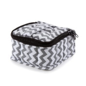 You Oil ToolsTM Chevron Grey Padded Soft 16 Essential Oils Carrying Case (13cm x 13cm x 7.6cm ) Holds 5, 10 & 15 ml doTERRA, Young Living, Plant Therapy, etc. Bottles