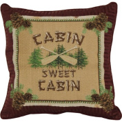 Cabin Sweet Cabin Lake 46cm x 46cm Throw Accent Pillow