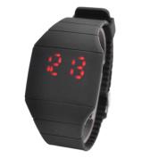 Magic Hidden Touch Screen Red LED Digital Watch Men Women Sport Cuff Wrist Watch Black
