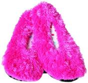 Bath Accessories Shaggy Slip Ons, Pink