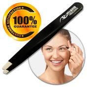 Veluxio Best Professional Slanted Tip Precision Eyebrow Tweezers