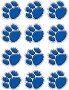 Teacher Created Resources Mini Accents, Blue Paw Prints