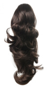 Onedor 38cm Dual Use Curly Styled Clip In Claw Ponytail Hair Extension Synthetic Hairpiece 130g with a jaw/claw clip