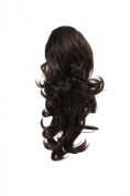 OneDor® 38cm Dual Use Curly Styled Clip in Claw Ponytail Hair Extension Synthetic Hairpiece 130g with a Jaw/claw Clip