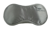 Sleep Mask (LARGE-XL Size) Sleeping Mask for Men or Women. A Quality SILVER Satin Travel Mask and Natural Rest Aid for Sleep Disorders & Insomnia