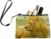 Rikki KnightTM Beautiful Lion King Close-Up Design Keys Coins Cards Cosmetic Mini Clutch Wristlet