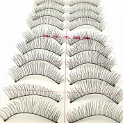 MapofBeauty 10 Pairs Natural Long Thin Makeup False Eyelashes