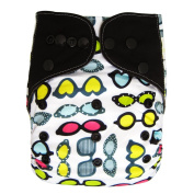 Charcoal Bamboo AIO All In One Cloth Nappy with Pocket