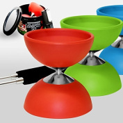 "Diabolo + Aluminium Sticks + FREE online Video, all in a Tin Can - ""The Ulitmate Diabolo Set"""