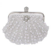 Women Lady Bridal Evening Party Clutch Full Pattern Pearl Clutch Purse Party Evening Bag