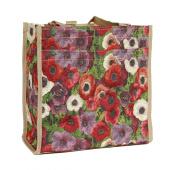 Signare Womens Fashion Tapestry Shopper Bag Shoulder Bag Floral Pansy Design