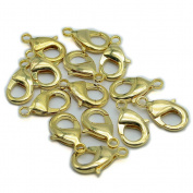 So Beauty 20 Pcs 2.7*1.5cm Gold Tone Stainless Steel Lobster Clasps for Necklace & Bracelet DIY Making