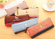 vanki 5 Pcs/lot Cotton Vintage Pen Pencil Pouch Case Holder Cellphone Coin Cosmetic Makeup Bag Purse for Kids Teens Teen Girls Boys School College Travel