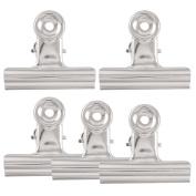 "vanki 5 x Files Paper Organise Spring Loaded Binder Clips Clamps 7.6cm "" Width"