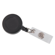 vanki Retractable Reel ID Badge Key Card Name Tag Holders with Belt Clip for Keys-ids-badges Black 10Pcs