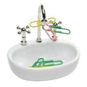 vanki White Plastic Faucet Sink design Paper Clip Dispenser Holder