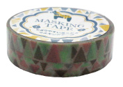 Amifa Japan Collection Folk Nordic Masking Deco Tape Standard Earthy Combination.