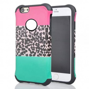 iPhone 6 Plus Case,Inspirationc® 2 in 1 Shield Hybrid Case for iPhone 6S Plus 5.5 inch Hybrid Dual Layer Hard Case for iPhone 6 Plus/6S Plus 5.5 inch TPU + PC Soft Hard Cover--Leopard Printed