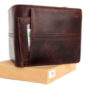 Men's Money Vintage Genuine Italian Leather Slim Wallet Coin Natural Pocket Purse Luxury Style Removable Id.
