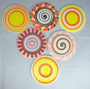 Yuan's Mosaic 9.5cm 1 Piece Hand Glazed Lollipop Ceramic Multicoloured Mosaic Tile POP Art