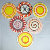 Yuan's Mosaic 9.5cm 1 Piece Hand Glazed Lollipop Ceramic Multicoloured Mosaic Tile POP Art