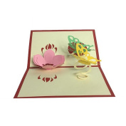 Artistic 3D Greeting Cards/Keepsakes Offered by DIY Shopping Centre. Flower and Butterflies