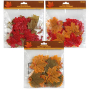 150 Artificial Fall Leaves in a Variety of Autumn Colours