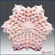 Snowflake No 10- Soap/candle/polymer/clay/cold Porcelain 2d Silicone Mould
