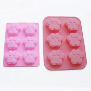 X-Haibei Big Small Paw Print Soap Ice Cream Chocolate Cake Plaster Silicone Mould Fun Maker