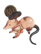 TINY CRYSTAL MOUSE RAT HAND BLOWN CLEAR GLASS ART MICE RAT FIGURINE ANIMALS COLLECTION