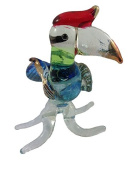 TINY CRYSTAL BIRD HAND BLOWN CLEAR GLASS ART BIRD FIGURINE ANIMALS COLLECTION