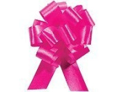 Cerise Pull String Bows - 14cm Wide 20 Loops (1 & 2.2cm Ribbon) Pkg/3