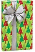 Christmas Trees Holiday Gift Wrap -4.9m Roll
