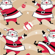 Swingin' Santa/Kraft Wrapping Paper Roll 60cm X 4.6m