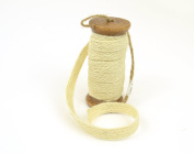 Natural White Jute Trim on a Wooden Spool