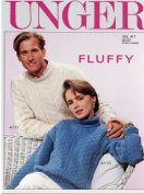 Unger Fluffy Knitting Pattern Lealfet Vol 411 - 4 Designs for Men, Women, Children