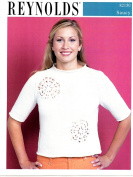 Women's Eyelet Circles Top - Reynolds Knitting Pattern 82150