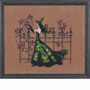 Gwen LINEN Kit Beaded Counted Cross Stitch by Nora Corbett Mirabilia Designs NC220 Bewitching Pixies (Bundle