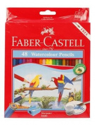 Faber Castell watercolour Pencils with Sharpner 48 Coloured