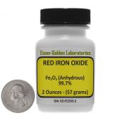 Red Iron Oxide [Fe2O3] 99.7% ACS Grade Powder 60ml in a Mini Plastic Bottle USA