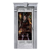 Amscan Haunted House Stairway Scene Setter Door Decoration